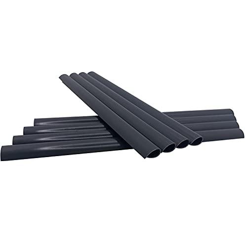 MOLVCE Befestigungsclips für Doppelstabmatten 50 Stück Clips für Sichtschutzstreifen PVC Anthrazit