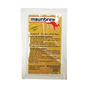 Mauribrew Lager497 12,5g untergärige Bierhefe zum Bier brauen