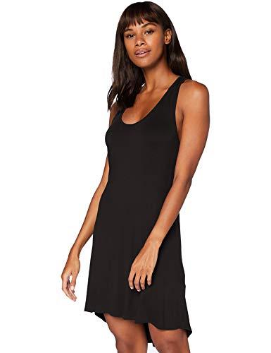 IRIS & LILLY Cross Strap Back nachthemd damen, Schwarz (Black Beauty), XL, Label: XL