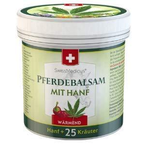 SwissMedicus bálsamo de caballo con calentamiento de cáñamo - ideal para deportistas - receta tradicional suiza - extractos de plantas naturales - uso diario - pomada de caballo - 250 ml