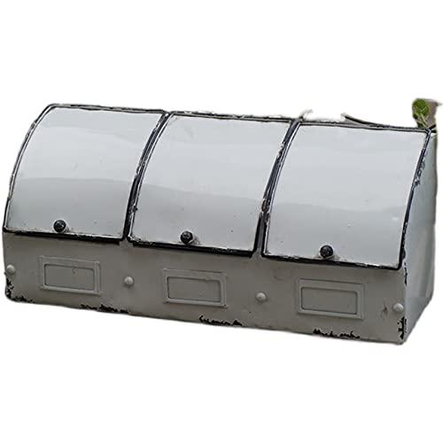 YLJB Caja De Baratijas Substed Top 3 Compartimiento Retro Vintage Blanco Caja De Metal Organizador | Cajas De Almacenamiento Contenedores Decorativo para Joyería Almacenamiento