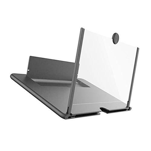 rongweiwang Ausziehbare Telefon Screen Amplifier Folding Mobile Magnifier Magnifier Ausziehbare Lupe 3D Vergrößern Stand 10in & Black