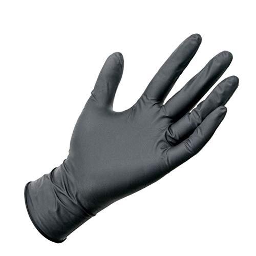 Guantes de nitrilo , 100 unidades, desechables de alta calidad, ideales para proteger la cocina, casa, el menaje, bricolaje, sin látex, calidad alimentaria sin polvo, color negro