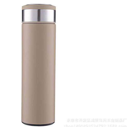 XHCWater Sportwaterflessen, roestvrij staal, isolatie, geschenkschaal, lekvrije fles, kinderen, school, sport, fiets, fruitfilter | BPA-vrij Tritan