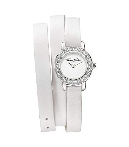 Thomas Sabo Damen-Armbanduhr mit einem rosafarbenen Wechselarmband WA0156-260-202-20