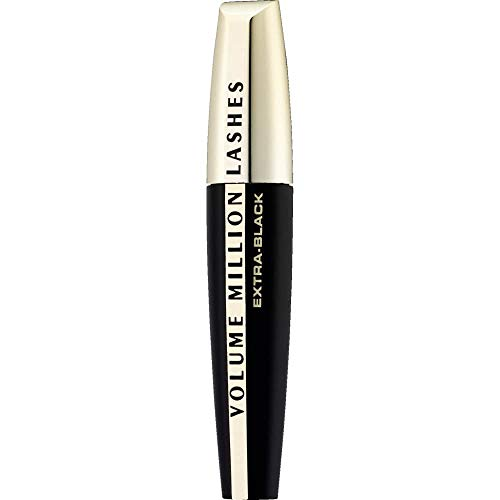 L'Oréal Paris Volume Million Lashes Mascara Extra Black, Wimperntusche für extra Volumen und Defintion,  Wimpern-Multiplizier-System (1 x 10,7ml)