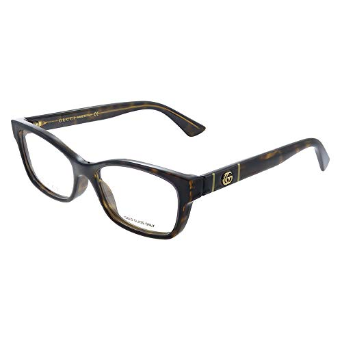Gucci GG 0635O 005 - Occhiali da vista rettangolari in plastica, 53 mm