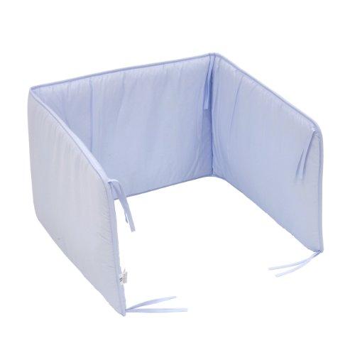 Cambrass Liso E - Protector de cuna, 60 x 40 cm, color celeste
