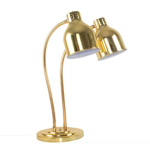 XinLuMing Lámpara de Calor de la alimentación de Doble Cabeza, lámpara de Calentamiento de Dos Bombillas, cafetería de la cafetería Comida Titular cálido (Color : A)