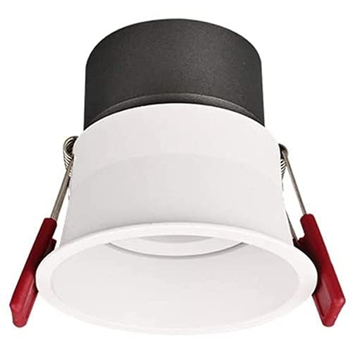 LogIme Foco empotrable LED Ultrafino Redondo de 7W Haz de 24 ° Luz de Techo empotrada LED 4000K Antirreflejos Profundos CRI95 + Lámparas empotrables empotrables LED, 10W