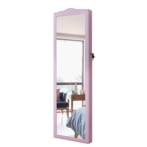 J+N Schmuckschrank Hängend Damen Ganzkörperspiegel Mit Lichtern Wandmontage Abschließbar Schmuckorganizer Spiegel Pink Ausreichend Stauraum Für Die Garderobe Haben Spiegel Schrank