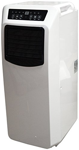 Prem-i-air 12000 BTU Per Hour Mobile Portable Air Conditioner With Remote Control and 24 Hour Timer, 2 fan speeds, an automatic diagnosis and over-cold prevention functions