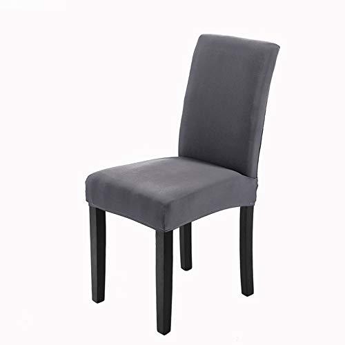 Veakii R Fundas para sillas Pack de 4 Fundas sillas Comedor, Lavable Comedor Asiento Cubre para el Comedor casero Modern Bouquet de la Boda, Hotel, Decor Restaurante(Gris)