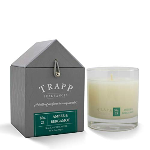 Trapp Signature Home Collection No. 21 Amber & Bergamot Poured Scented Candle, 7 Ounce