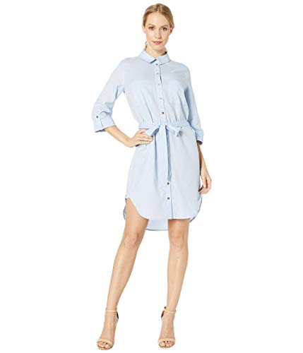 Heidi Klein Azores Relaxed Shirtdress Light Blue MD