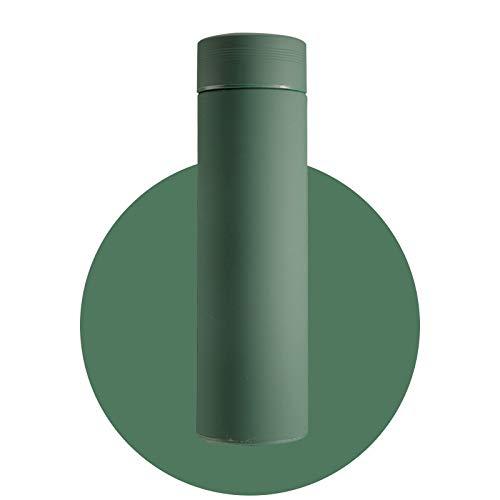 Termo taza térmica con filtro de acero inoxidable 304, taza de café, botella de agua, oficina, negocios, hogar, termo (capacidad: 500 ml, color: verde)