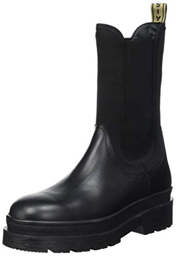 SCOTCH & SODA FOOTWEAR Damen Aubri Chelsea-Stiefel, Black, 39 EU