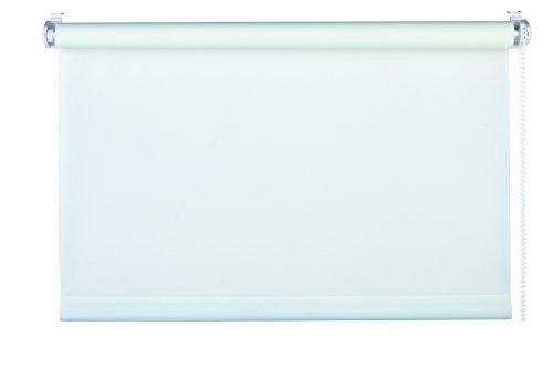 mydeco 75 x 160 cm (L x A), colore: bianco-Tenda a rullo senza necessità di forature, Blind-Tenda parasole, con supporti per il fissaggio, e protezione per finestre, plastica;tessuto, 70 x 160 cm