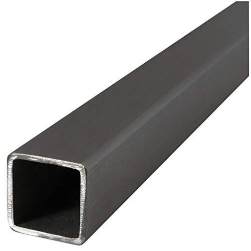 Tubo rectangular - cuadrado de acero inoxidable V2A, cualquier cantidad, cualquier longitud, a la medida deseada, 0100, 25 x 25 x 2 mm., 1