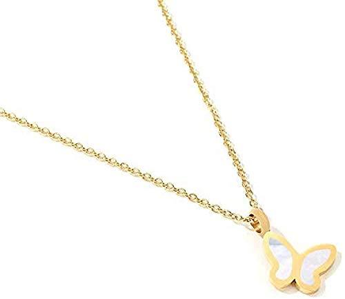 BACKZY MXJP Halskette Europäische Und Amerikanische Schmetterlingspaar Anhänger Halskette Weibliche Schlüsselbeinkette Temperament