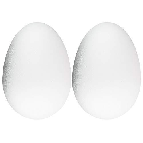 Ideen mit Herz Styropor-Ei, 2-teilig | groß & teilbar (30 cm hoch | Ø 21 cm | 2 Stück)