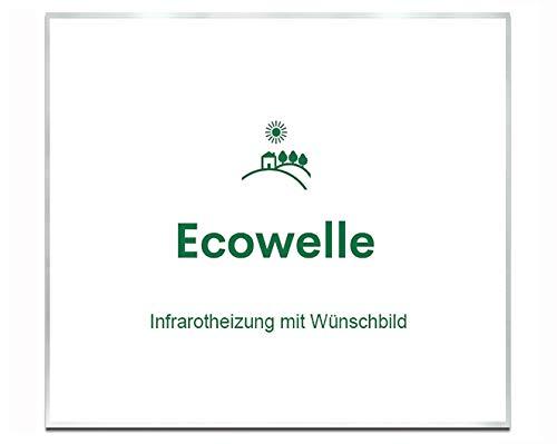 Ecowelle Eigenes Bild & Foto Infrarot Heizung mit Herstellergarantie - Made in Germany - Infrarotheizung mit Wünschbild (1200 Watt, Alufarbige Alurahmen)