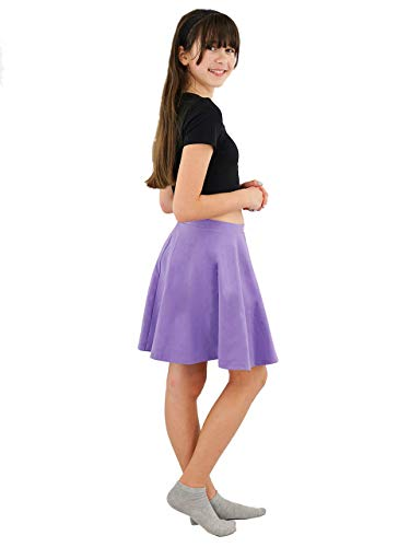 Vivian's Fashions Skirts - Girls, Cotton, Long, Circle (Lavender, Large)