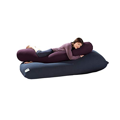 Yogibo ロールボディ枕 横向き寝 妊娠 座る ソフトマイクロビーズ入り 大人と子供用 パープル