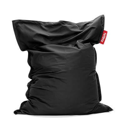 Fatboy® The Original Pouf d?extérieur | Bean Bag/Coussin/Fauteuil XXL Classique Outdoor | Noir | 180 x 140 cm