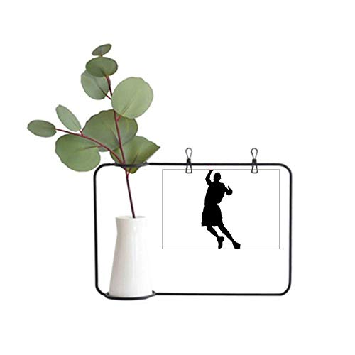 DIYthinker Moldura de metal para corrida, salto, esportes, basquete, decoração de vaso de cerâmica