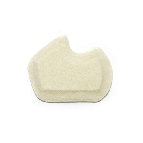 Premium Dancers Pads for Ball of feet Pain - Sesamoiditis Pads - 1/4 Thick Adhesive Skived Felt - 12 Pieces - Left Foot
