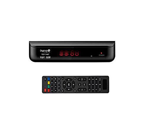 Digivolt TDT-7407 Reproductor TDT HD Sintonizador Digital Terrestre Dvbt-HD
