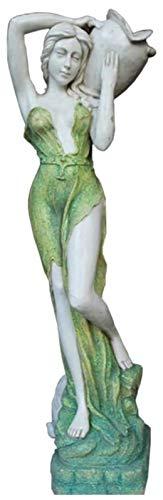 Desktop-Skulptur Statue der Göttin Holding Pot, Garten Angel Skulptur, Harzhandwerk Modell, großer Outdoor-Gartengarten-Handgemachte Kunst-Display-Dekoration
