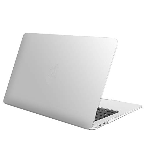 FINTIE Case for MacBook Air 13 Inch (2020 & 2019 & 2018 Release) A2179 / A1932 - Protective Snap On Hard Shell Cover for New MacBook Air 13 Retina Display with Touch ID, Frost Clear
