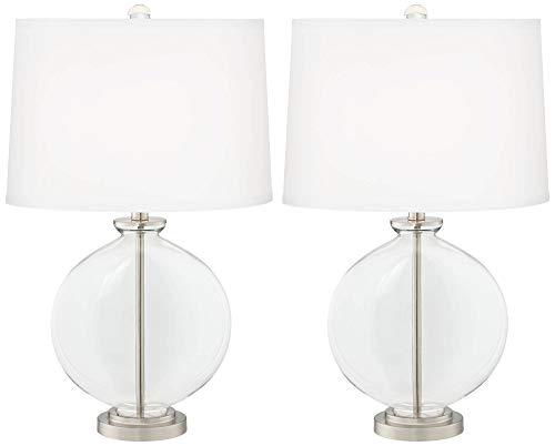 透明ガラスキャリー テーブルランプ 2個セット