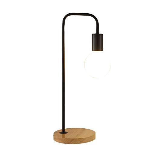 TJLSS Lámpara de sobremesa Industrial de Hierro de Simple Designs, lámpara de Mesa de Cristal con Pantalla Negra en Bronce (Color : Black)