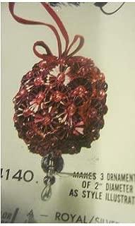 Vintage Walco Holiday Tri-Bead Tantalizer Beaded Ornament Kit Blue Silver Makes 3