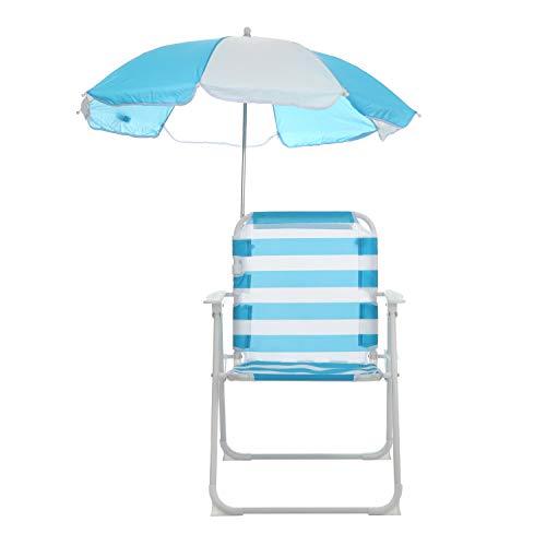 Sedia azzurra con ombrellino parasole per bambini Azzurra