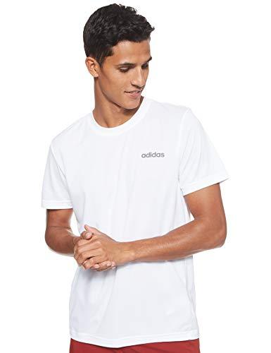 adidas M D2m Ca PL Tee T-Shirt, Uomo, White/Black, M