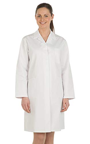 Abrigo blanco Workwear World para médicos, damas, trabajos en laboratorio blanco blanco 24