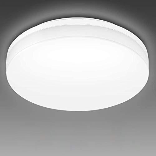 LE 24W Deckenlampe, LED Deckenleuchte IP54 Wasserfest, Ø33 5000K Badlampe, 2400LM Kaltweiß Licht Badezimmer Lamp, Rund Flach Leuchte Decken Ideal für Küche,Schlafzimmer,Balkon,Flur,Bad,Wohnzimmer