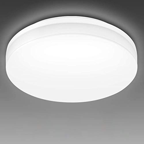LE Flush Mount Ceiling Light Fixture Waterproof 24W LED Ceiling Light (2x100W Equivalent) 2400lm 13 Inch 5000K Bright White Ceiling Lamp for Bathroom, Kitchen, Bedroom, Porch, Hallway Non Dimmable