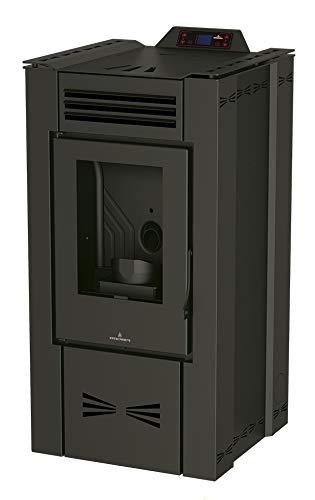 Bronpi – Estufa de pellets canalizable 16 kW modelo Eva-NC, no canalizable, color negro
