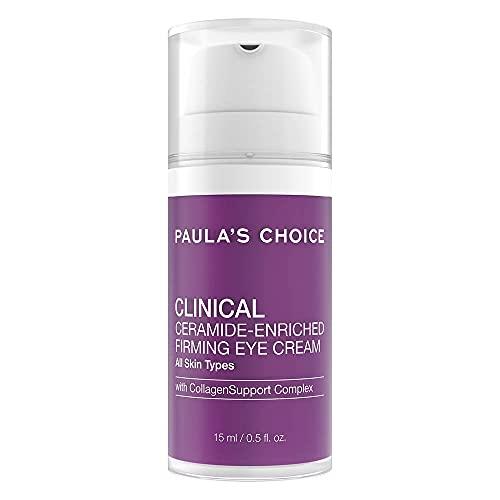 Paula's Choice Clinical Crema Contorno de Ojos - Crema Hidratante Reafirmante Antiedad y Antiarrugas - con Ceramidas, Vitamina C & Retinol - Todos Tipos de Piel - 15 ml