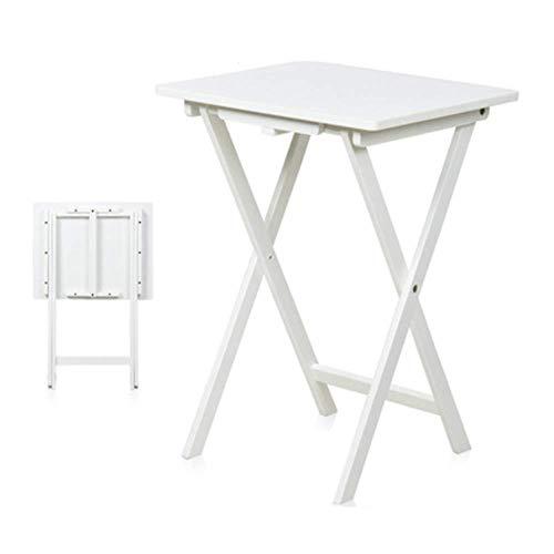 QULONG Premier Housewares Klapp-Beistelltisch Beistelltisch Konsolentisch Naturholz 48 X 40 X 64,5 cm - Beige/Weiß,Weiß