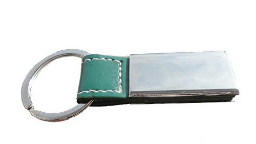 Schlüsselanhänger – einzigartiges Einzelstück - mit Name, Bild oder Liebesgrüßen ink. Gravur (Grün Variante 4)