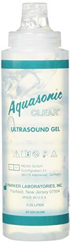 Aquasonic Clear Ultrasound Transmission Gel, 8-Ounce, Case of 12