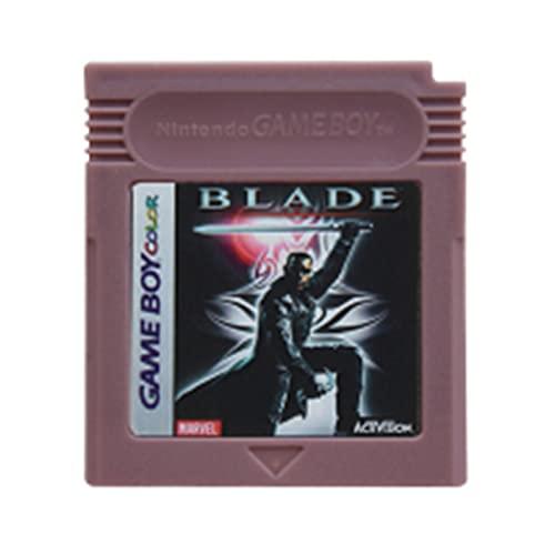 Red Peony Wangweiming Videospielkassettenkonsole-Karte 16 Bits Metrod II DX. Metallgetriebe Solid Trip World Fit for Nintendo GBC Englische Version WWM (Color : Blade)