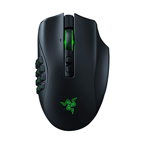 Razer Naga Pro Wireless Gaming Mouse: Interchangeable Side Plate w/ 2, 6, 12 Button Configurations - Focus+ 20K DPI Optical Sensor - Fastest Gaming Mouse Switch - Chroma RGB Lighting