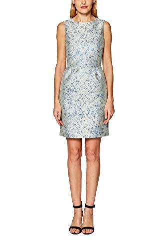 ESPRIT Collection Damen 029EO1E018 Kleid, Grün (Light Aqua Green 390), (Herstellergröße: 38)